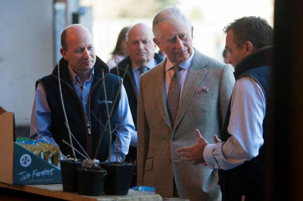 Prince of Wales visits Two Farmers
